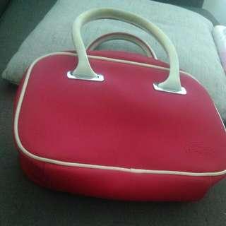 Red LACOSTE Handbag