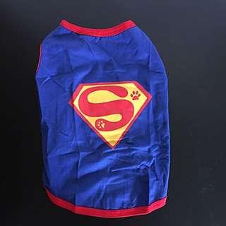 Superman dog dress