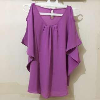Blouse Purple Pastel girly