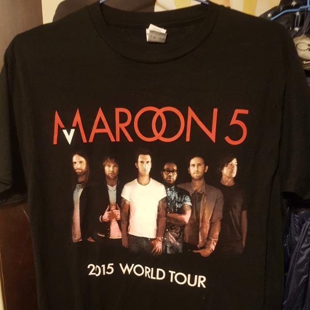 2015 Maroon5 演唱會官方T