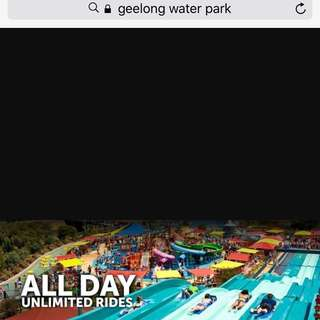 3 Tickets For All Day pass Geelong Water Park