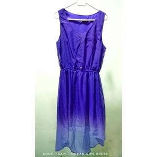 Mossimo Blue Peacock Hombre Dress