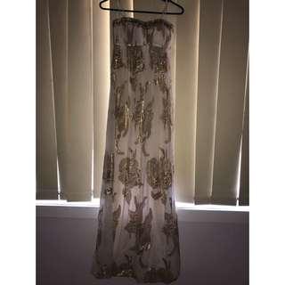 Forever New Erika Metallic Maxi Dress