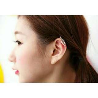 花紋 葉子 耳夾 耳扣 耳環 耳骨 耳骨環 免穿洞 免穿耳洞
