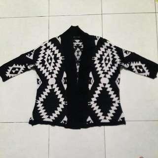 Tribal Jaket Sweater Cardigan Bahan Rajut