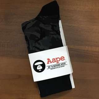 Aape 迷彩襪子 黑迷彩