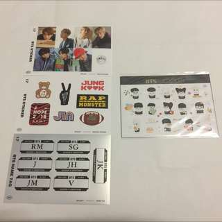 BTS Official Sticker Sheets
