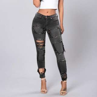 Fashion Nova Hardcore Jeans - Faded Black