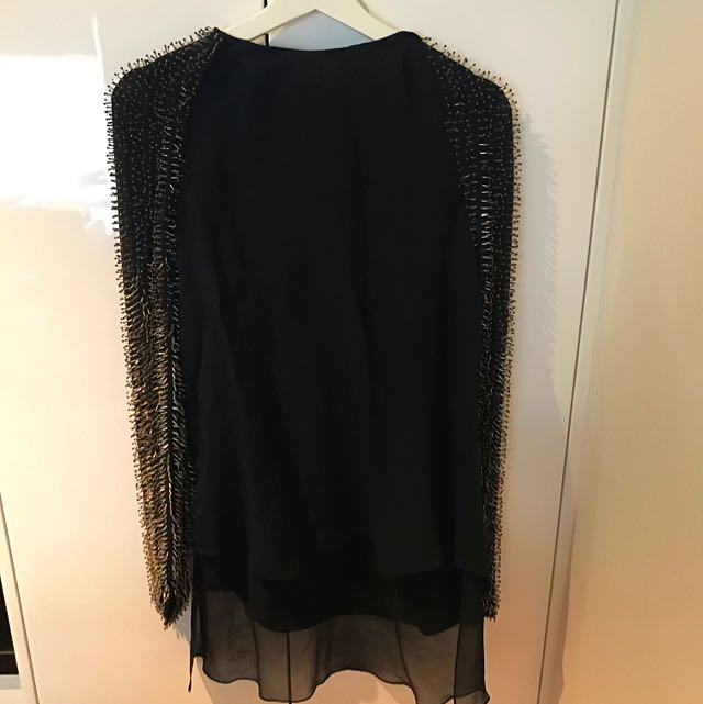3.1 Phillip Lim Beaded Long Sleeve Top