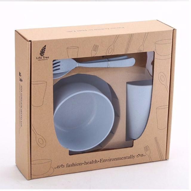 小麥梗 餐具組(六件裝)(北歐藍)