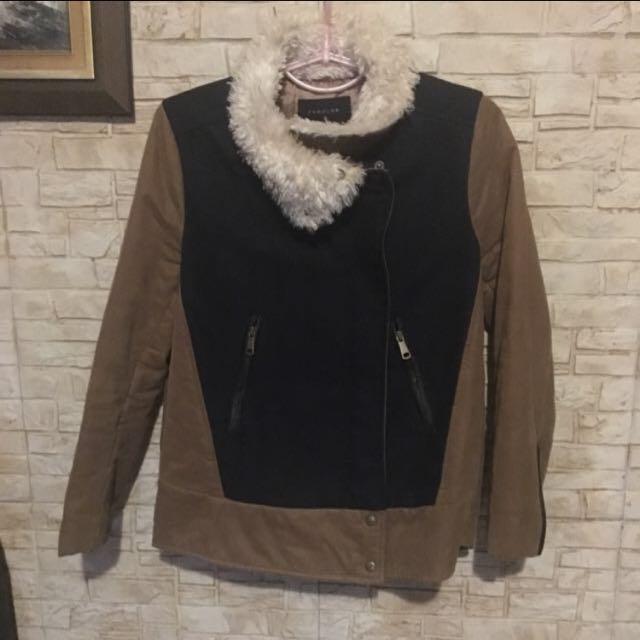 韓版毛領女夾克外套