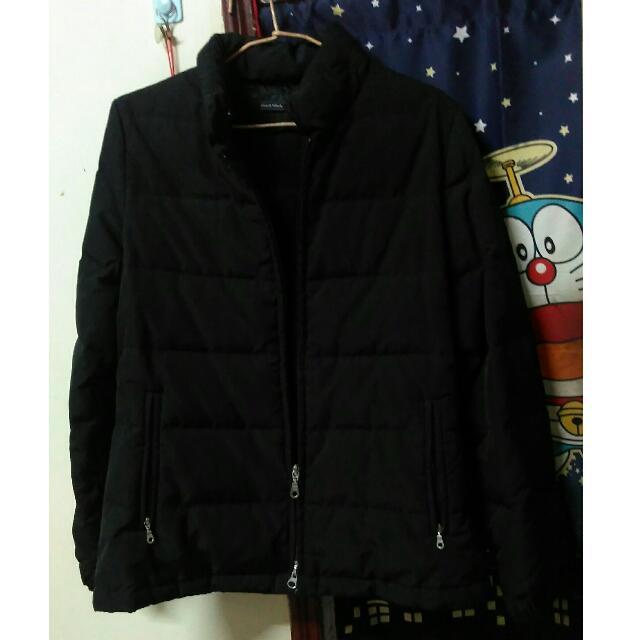 #免購物直接送❤黑色鋪棉外套