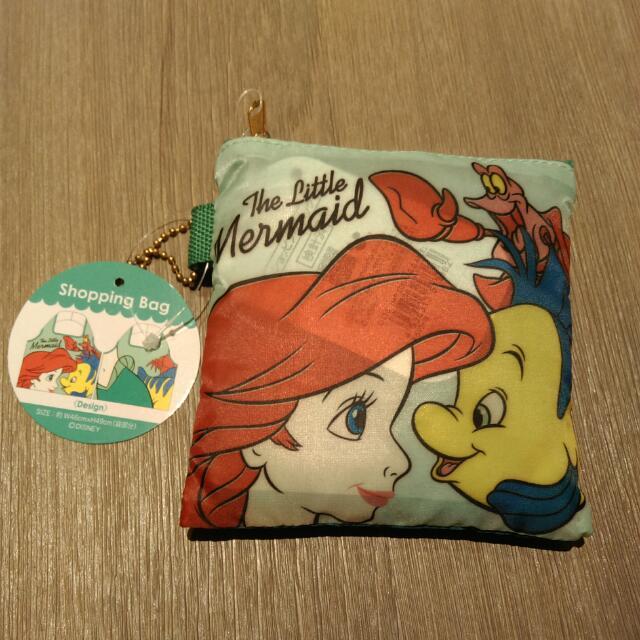 迪士尼 小美人魚 購物袋