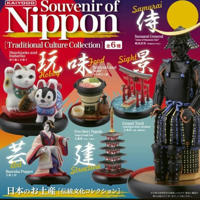 日本限定 海洋堂 souvenir of nippon 日本土產 景物 扭蛋