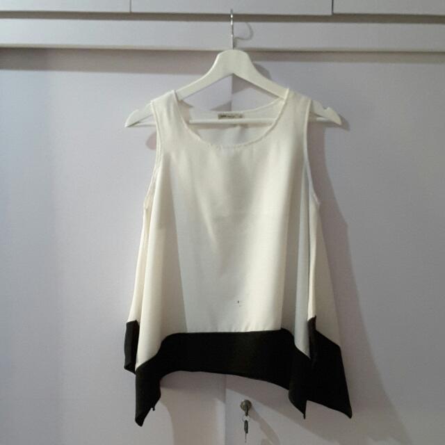Ada Women White-Black Top