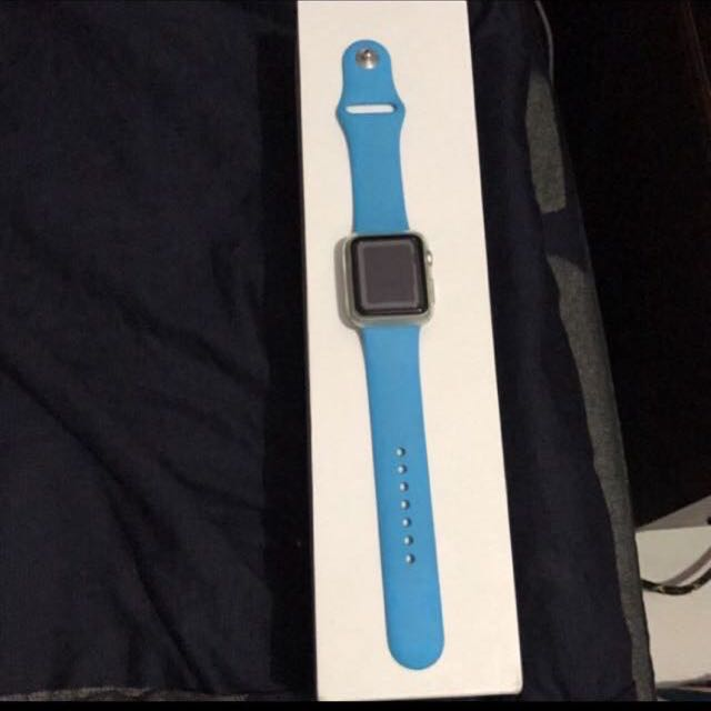 Apple watch 38mm 水藍