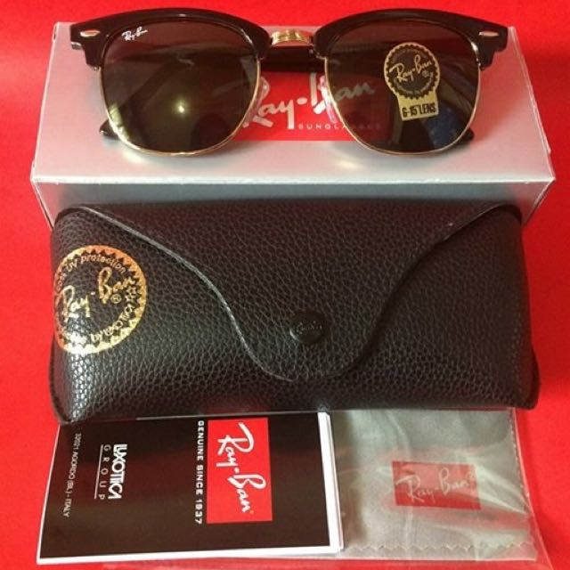 Authentic Ray Ban Clubmaster
