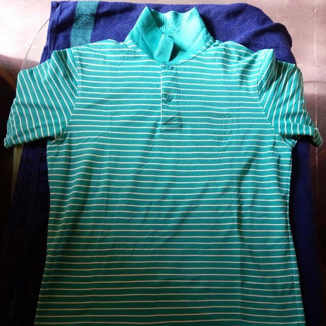 baju kerah uniqlo size L dry fit