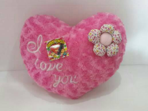 Bantal Hati Valentine Bunga I Love You Pink Fanta, Toys & Collectibles, Toys on Carousell