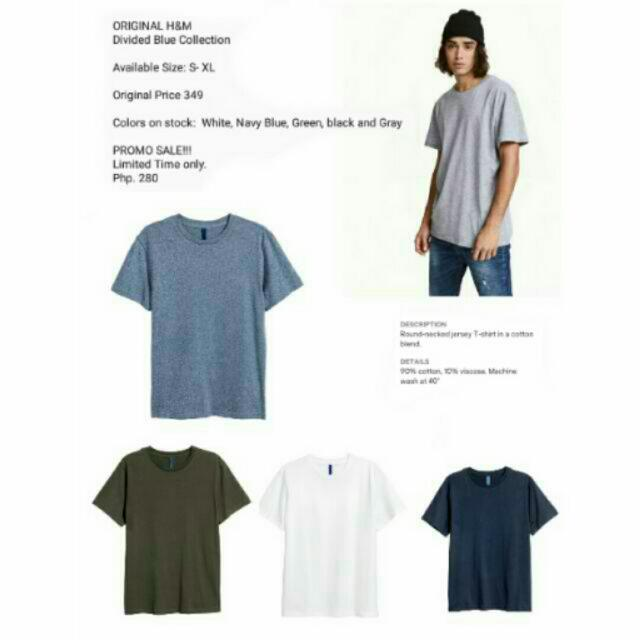 GENUINE HnM ( Divided Collection) BASIC T- Shirt, ROUND NECK.