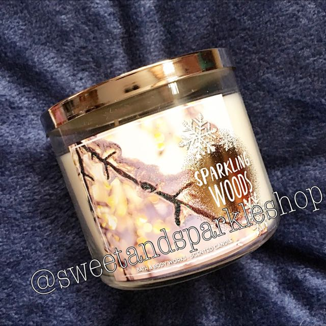 Bath & Body Works Three Wicked Candle in Sparkling Woods
