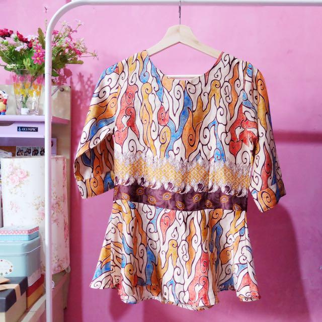 Batik modern top