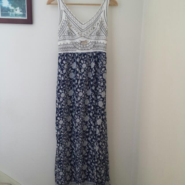 Beaded Maxi Dress Size 8