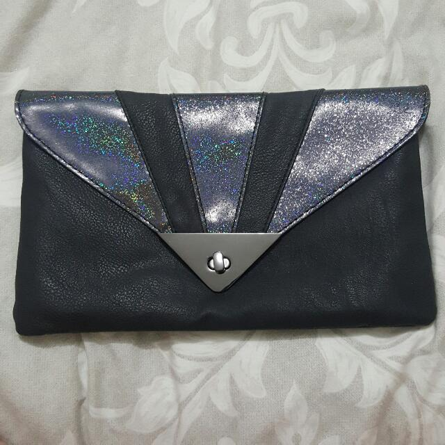 Black Metallic Clutch