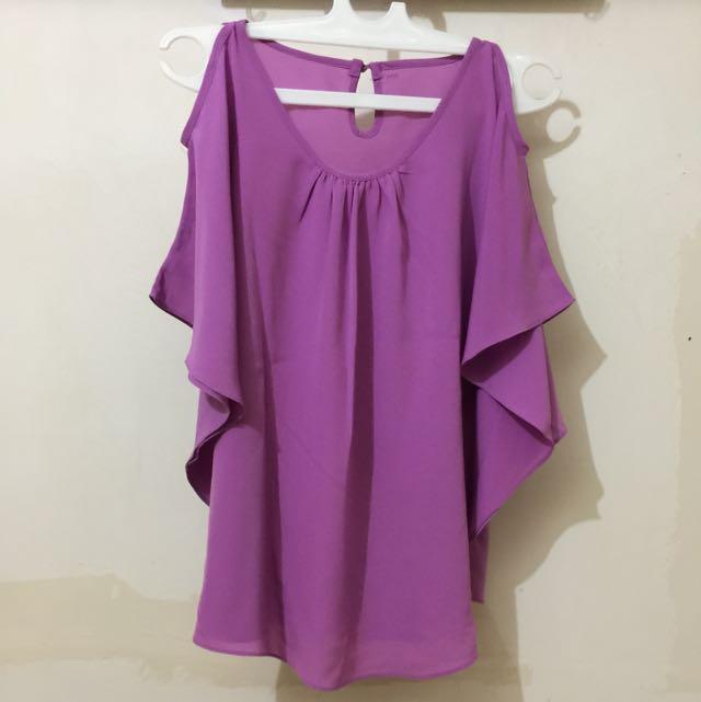 Blouse Purple Pastel girly