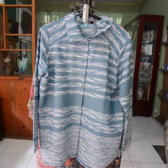 Blue Horizontal Strip Shirt [Preloved]