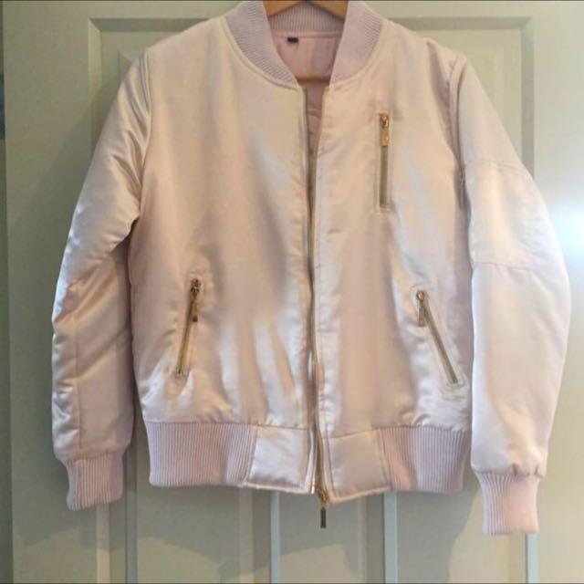 Boohoo Bomber Pink Jacket