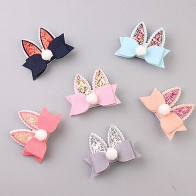Bunny Hair Clip For Girls Toddlers And Baby