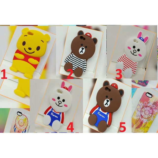 Cartoon Character Rubber MObile  Phone Case for Oppo F1s _NJ14