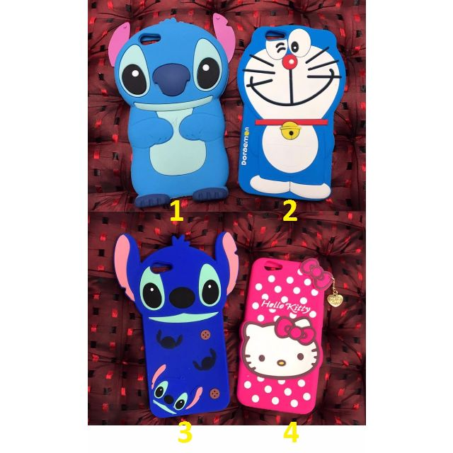 Cartoon Character Stitch, Hello Kitty, Doraemon Rubber MObiel Phone Case for Oppo F1s _AB14
