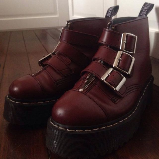 Chunky Platform Buckle Boot by Doc Martens