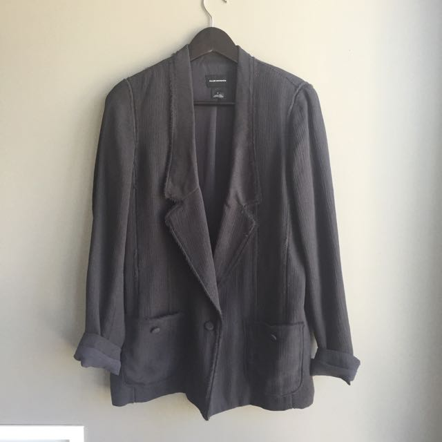 Club Monaco Silk Blazer