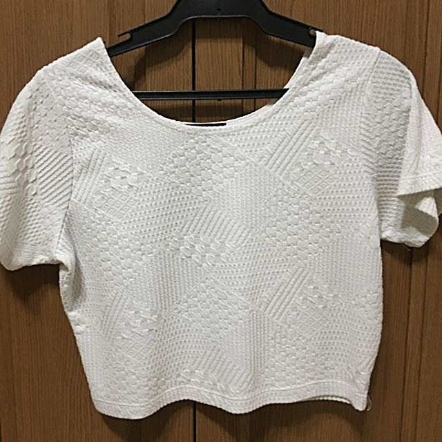 Cotton On Crop Top White