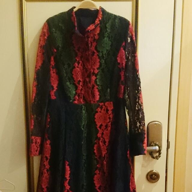 DDC名牌蕾絲精緻長洋裝