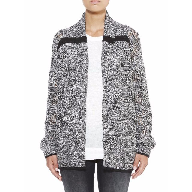 Denham PATCHWORK REPAIR CARDIGAN