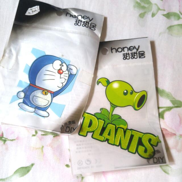 DIY Sablon Baju Doraemon& Plants vs zombie