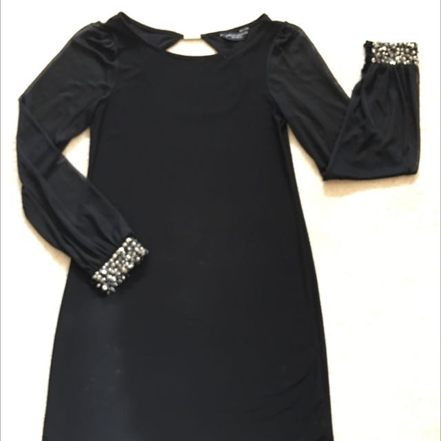 Dorothy Perkins LBD With Sheer Sleeves