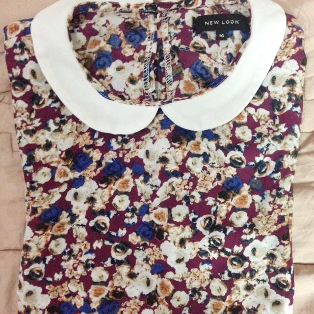 Floral Mauve Blouse By New Look