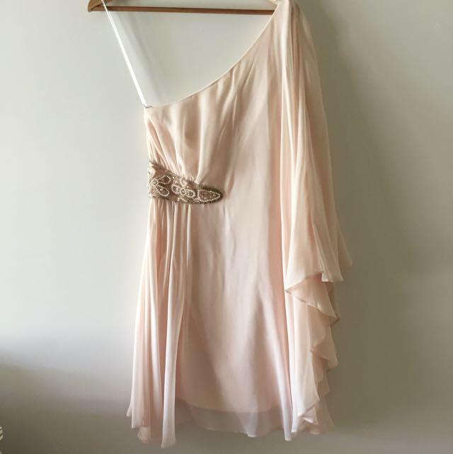 Forever New Baby Pink One Shoulder Dress