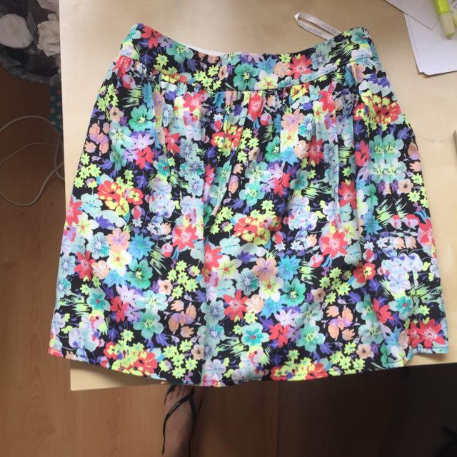Forever New Floral Skirt
