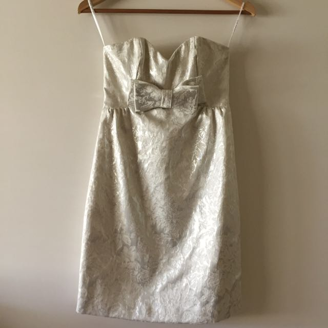 Forever New Silver Floral Dress