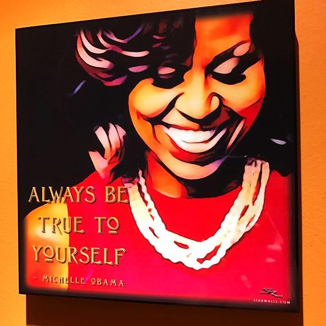 Girl power michelle obama pop art poster frame design craft photo photo solutioingenieria Choice Image