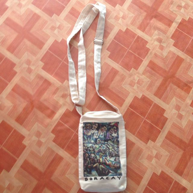 Hand Painted Canvas Sling Bag