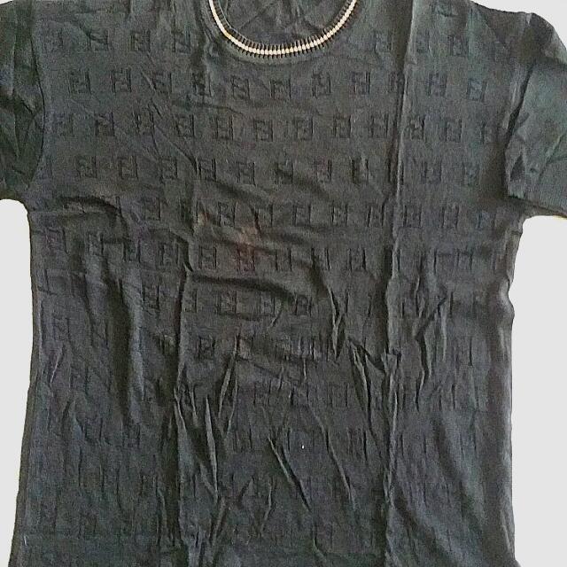 Knit T-shirt  Wool Black