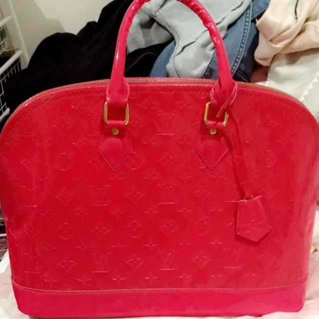 Large Hot Pink Louis Vuitton Tote