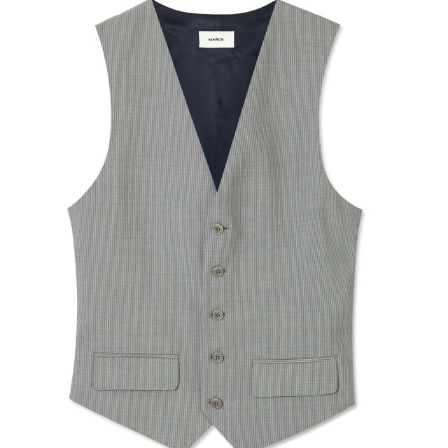 MARCS Grey Pinstripe Waistcoat Size 40-42